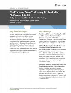 Forrester Wave - Journey Orchestration Platforms
