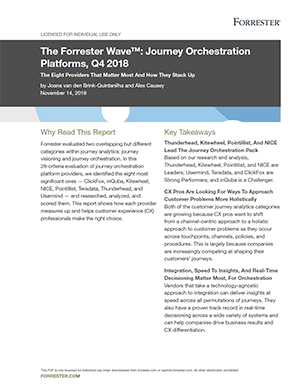 Forrester Wave - Journey Orchestration Platforms