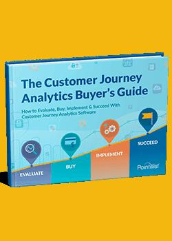 buyer's guide to customer journey analytics ebook cover
